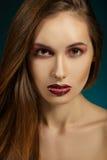 Ritratto del modello di moda. Trucco professionale Fotografia Stock