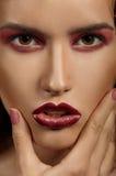 Ritratto del modello di moda. Trucco professionale Fotografie Stock Libere da Diritti