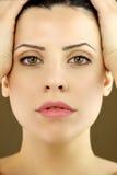 Ritratto del modello femminile con gli occhi verdi fotografie stock