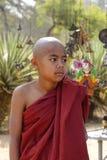 Ritratto del monaco birmano del principiante Fotografie Stock