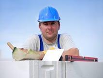 Ritratto del muratore Immagini Stock Libere da Diritti