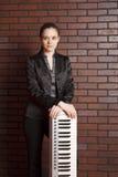 Ritratto del musicista Fotografia Stock
