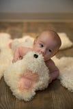 Ritratto del neonato Fotografia Stock Libera da Diritti