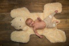Ritratto del neonato Immagini Stock Libere da Diritti