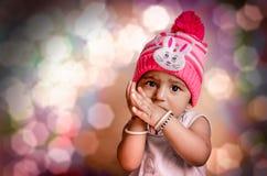 Ritratto del neonato sveglio Immagini Stock