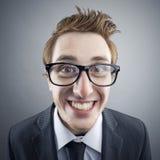 Ritratto del nerd immagini stock libere da diritti