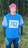 Ritratto del partecipante dello sport che orienteering Immagini Stock Libere da Diritti