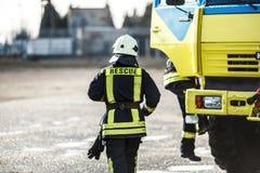 Ritratto del pompiere in servizio Immagini Stock