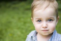 Ritratto del primo piano del bambino fotografia stock