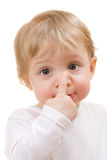 Ritratto del primo piano del bambino Fotografie Stock