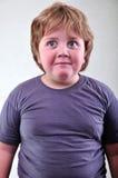 Ritratto del primo piano del bambino biondo sveglio Fotografie Stock Libere da Diritti