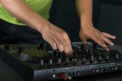 Ritratto del primo piano del miscelatore del DJ Immagini Stock Libere da Diritti