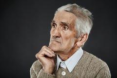 Ritratto del primo piano dell'uomo anziano Fotografia Stock Libera da Diritti