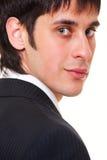 Ritratto del primo piano dell'uomo d'affari di smiley Fotografia Stock
