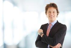 Ritratto dell'uomo d'affari sorridente Immagine Stock Libera da Diritti