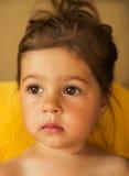 Ritratto del primo piano della bambina graziosa Fotografia Stock Libera da Diritti