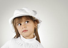 Ritratto del primo piano della ragazza del bambino Fotografia Stock Libera da Diritti