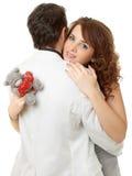 Ritratto del primo piano delle coppie attraenti che flirtano Immagine Stock