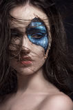 Ritratto del primo piano delle giovani donne immagini stock libere da diritti