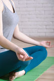 Ritratto del primo piano delle posizioni di yoga fotografie stock