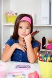 Ritratto del primo piano di bella bambina Fotografia Stock