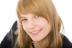 Ritratto del primo piano di bella ragazza Fotografia Stock Libera da Diritti