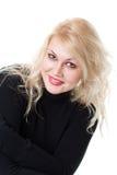 Ritratto del primo piano di giovane donna sorridente Immagini Stock Libere da Diritti