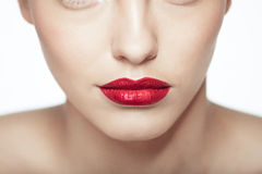 Ritratto del primo piano di giovane modello caucasico sexy Immagine Stock Libera da Diritti