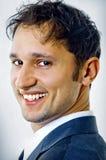 Ritratto del primo piano di giovane uomo bello di affari Fotografie Stock