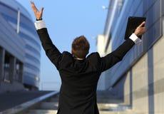 Ritratto del primo piano di giovane uomo d'affari Immagine Stock Libera da Diritti