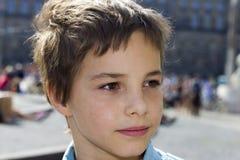 Ritratto del primo piano di sorridere Pre-teenager del ragazzo Immagine Stock Libera da Diritti