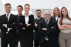 Ritratto del primo piano di un gruppo principale di affari Immagini Stock