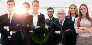 Ritratto del primo piano di un gruppo principale di affari Immagine Stock