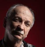 Ritratto del primo piano di un uomo anziano Immagini Stock