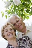 Ritratto del primo piano di una coppia matura felice Immagini Stock Libere da Diritti