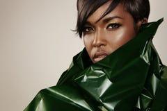 Ritratto del primo piano di una donna di colore Fotografia Stock Libera da Diritti