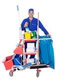Ritratto del pulitore sorridente Immagine Stock