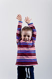 Ritratto del ragazzino emozionale Fotografia Stock