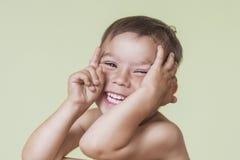 Ritratto del ragazzo caucasico di risata felice Immagine Stock Libera da Diritti