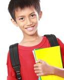 Ritratto del ragazzo con sorridere dello zaino Fotografia Stock