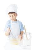Ritratto del ragazzo del cuoco unico Immagini Stock