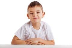 Ritratto del ragazzo di banco Fotografia Stock Libera da Diritti