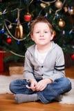 Ritratto del ragazzo di natale Fotografia Stock