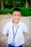 Ritratto del ragazzo di scuola tailandese in uniforme Fotografia Stock Libera da Diritti
