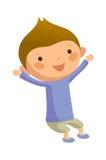 Ritratto del ragazzo felice illustrazione di stock