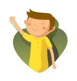 Ritratto del ragazzo felice royalty illustrazione gratis