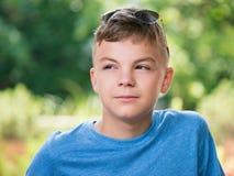 Ritratto del ragazzo teenager Fotografia Stock Libera da Diritti