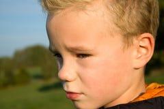 ritratto del ragazzo triste Fotografie Stock