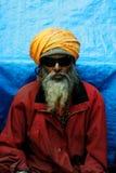 Ritratto del sadhu in mela del kumbh fotografia stock