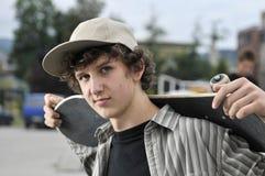 Ritratto del skateboarder Immagini Stock
